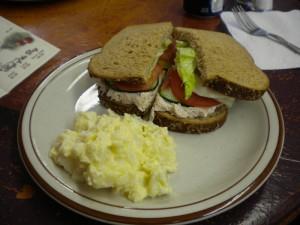 Chicken-salad sandwich at Mountain Brew Espresso.