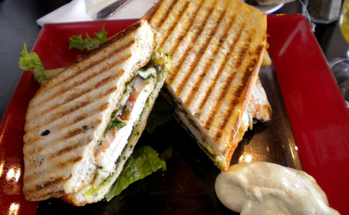Scott Road chicken and pesto panini from Recess in Glendale