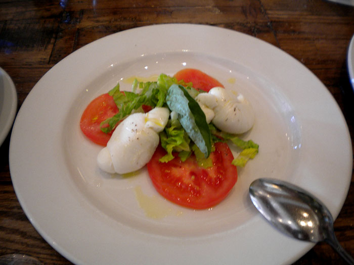Caprese salad at Amici in Glendale