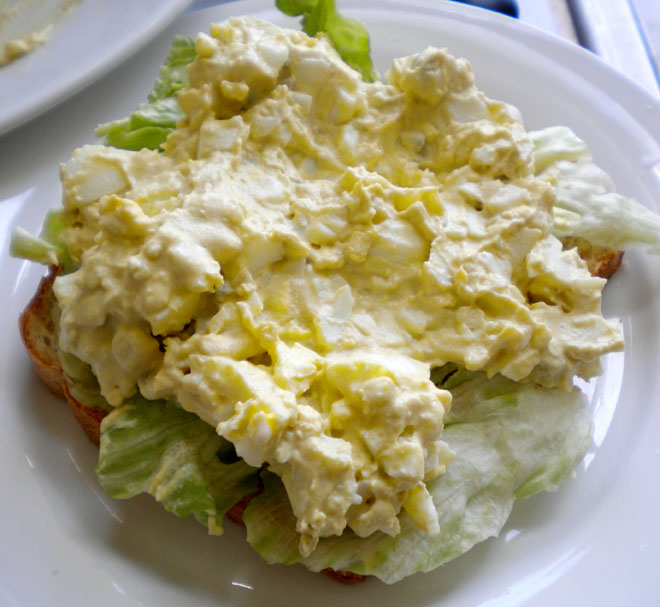 Creamy egg salad.
