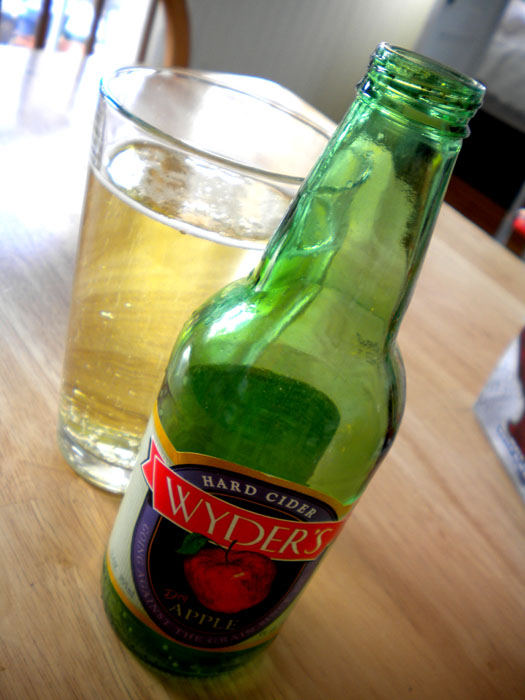 Wyder's hard apple cider.