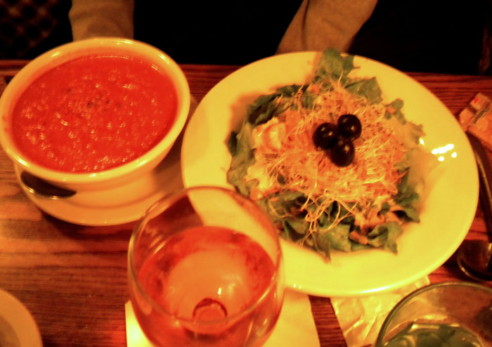 Soup and salad at the Olive Branch restaurant, downtown Colorado Springs
