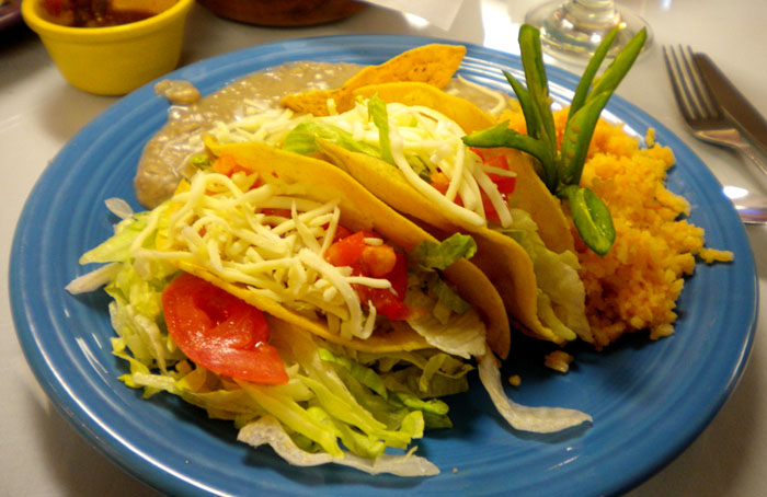 Chicken tacos at Alice's Mexican Cuisine in downtown Colorado Springs.