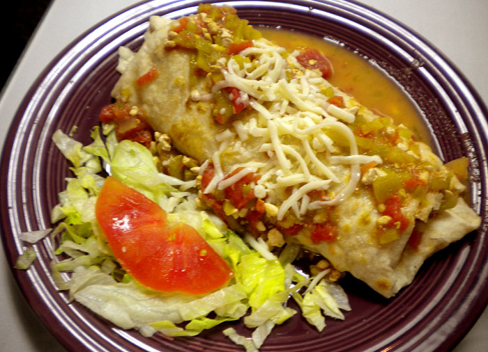 The green chili burrito at Alice's Mexican Cuisine in downtown Colorado Springs.