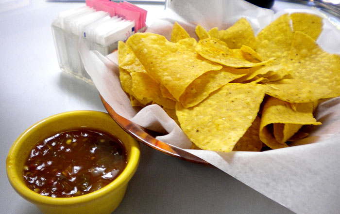 Chips and warm salsa at Alice's Mexican Cuisine in downtown Colorado Springs.