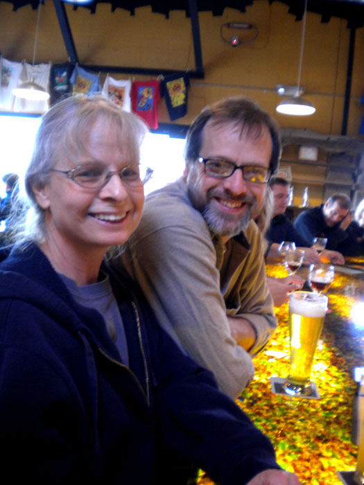 Mike and his mom at Trinity Brewing, Colorado Springs