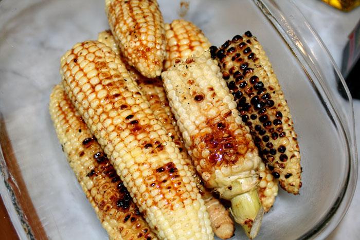 Grilled corn with honey chipotle butter