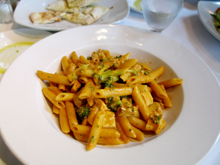 I had penne with broccoli and pink sauce- delish!