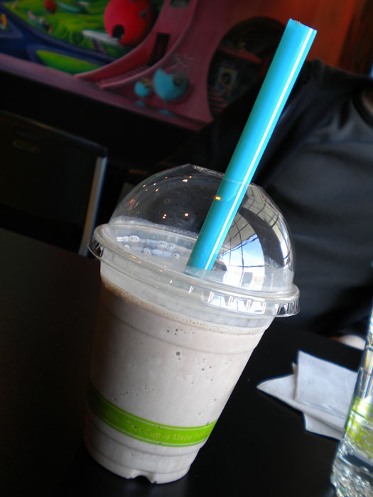 Chocolate milkshake at Squeak Soda Shop, Colorado Springs