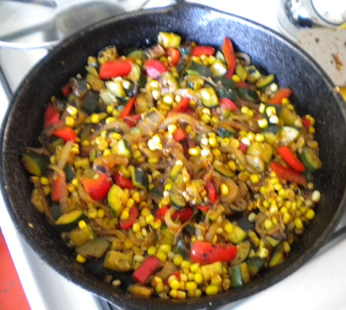 Veggie filling for tacos