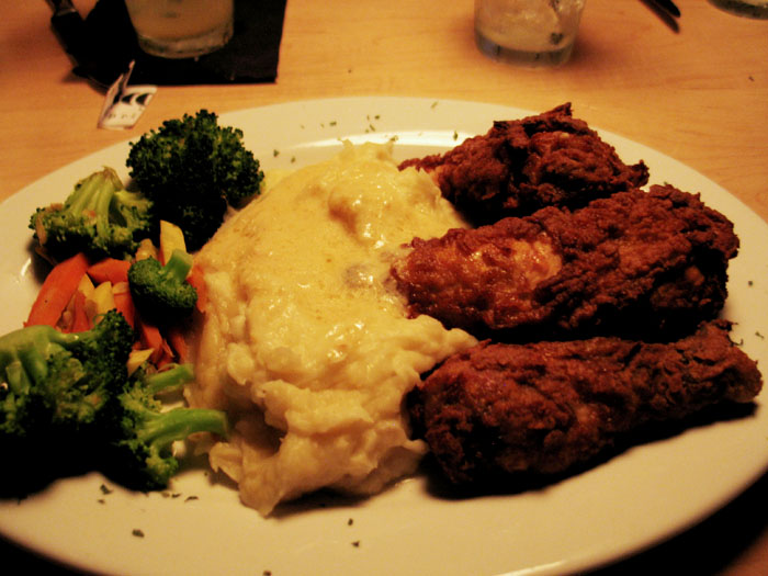 Fried Chicken Platter, Roscoe's, Palm Springs