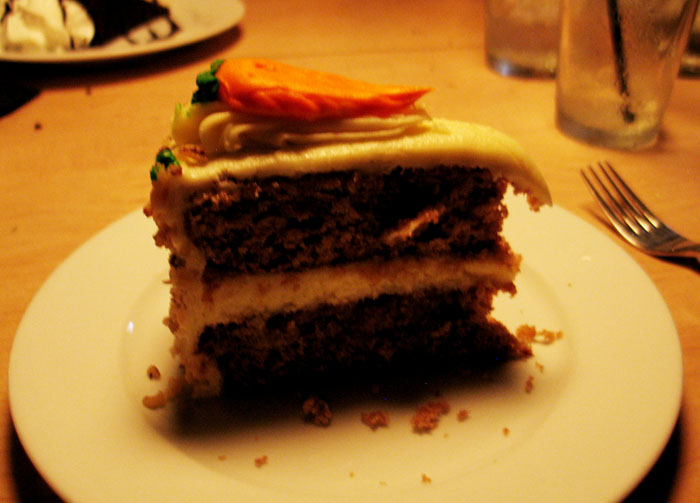 Carrot cake from Roscoe's, Palm Springs, which is pretty much the best thing ever