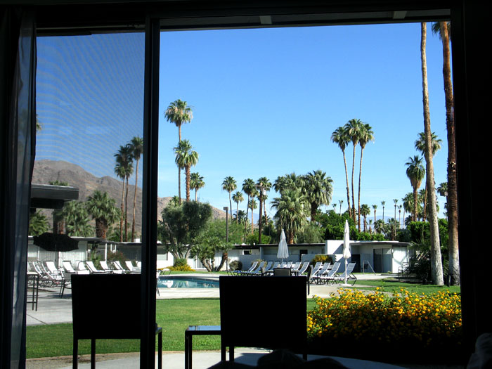The view from the room at The Horizon Hotel, Palm Springs