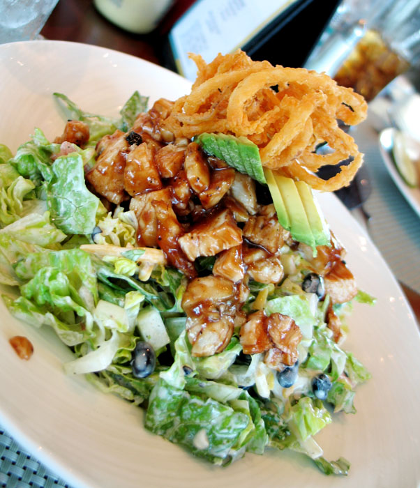 BBQ chicken salad from Escena Golf Club, Palm Springs