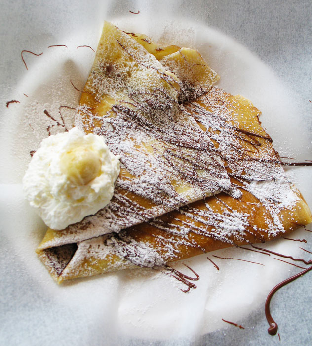 Banana Nutella crepe, Paris Crepe, Colorado Springs, CO