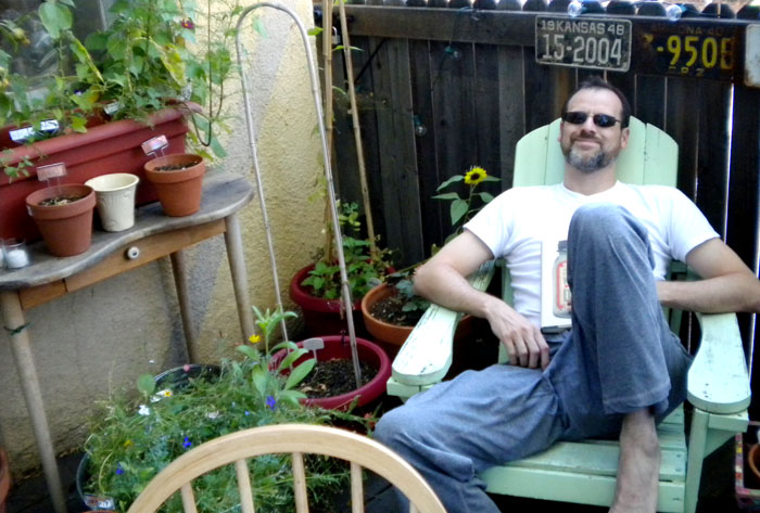 The Dange hanging out on the deck