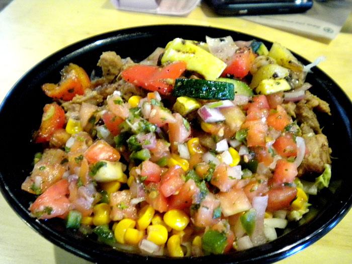 Huli chicken salad from La'au's, Colorado Springs