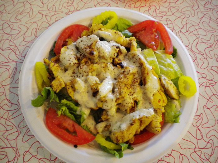 Chicken salad at Taste Of Jerusalem, Colorado Springs, CO