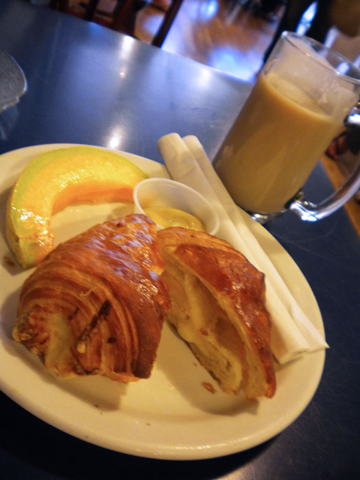 Cheese croissant at La Baguette, Old Colorado City, Colorado Springs, CO