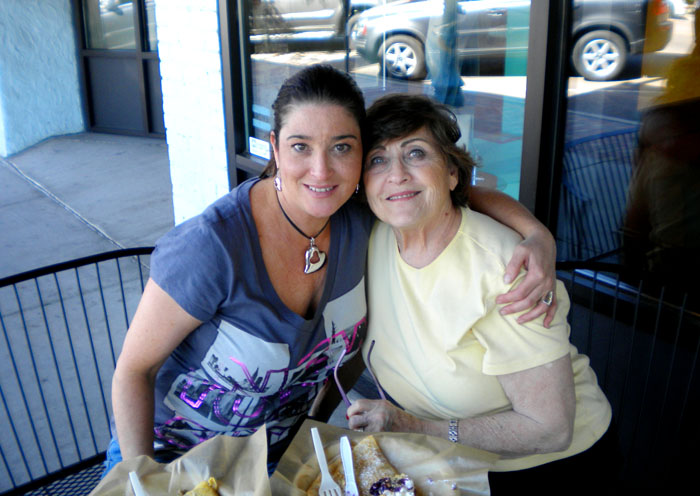Janel and her mom, Maria, Paris Crepe, Colorado Springs, CO