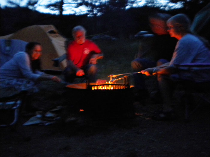Cooking over a campfire- fun!