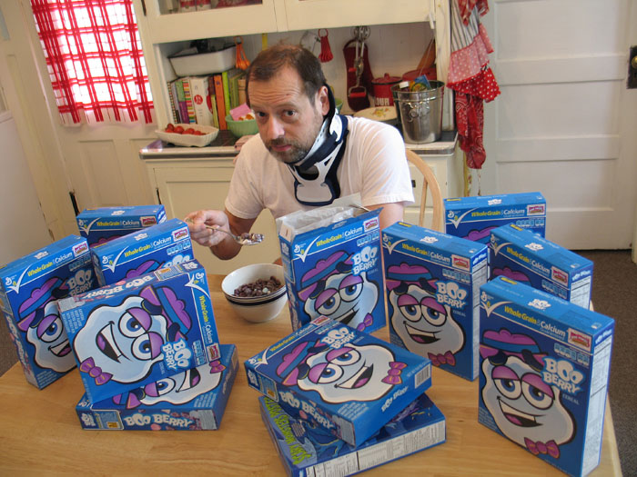 Best Internet friends Shelby and Sandy sent a case of get-well Boo Berry cereal.