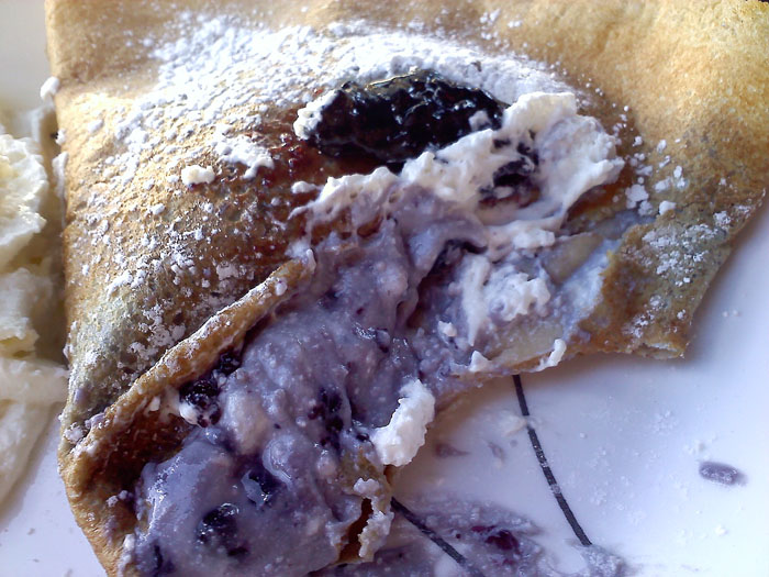 Coquette Blintz crepe from Coquette Creperie in Manitou Springs, CO