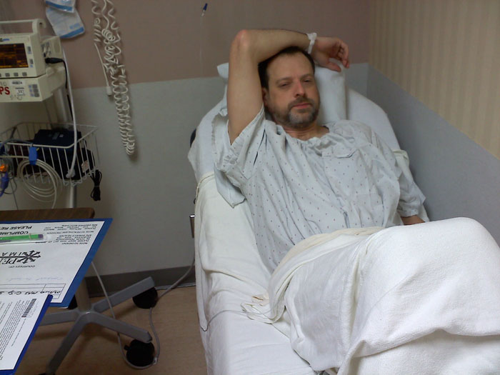 Before discectomy surgery at Penrose Hospital