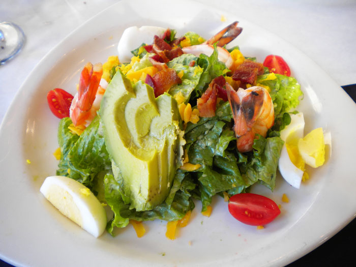 Grilled shrimp cobb salad, The Ritz, Colorado Springs, CO