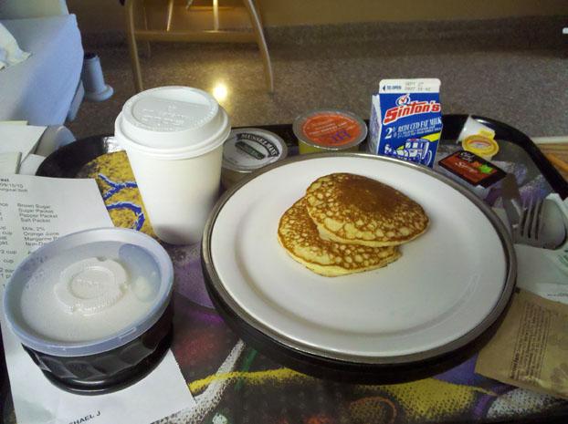 Penrose Hospital breakfast.