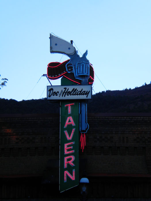 The coolest old sign in Glenwood Springs, CO