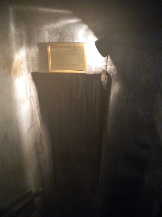Down the stone stairs and into the vapor caves, Yampah Hot Springs, Glenwood Springs, CO