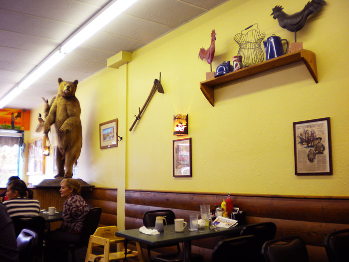 Rifle, CO is a big hunting area. Not sure I'm fond of all the dead animals on the walls at the Base Camp Cafe, tho.