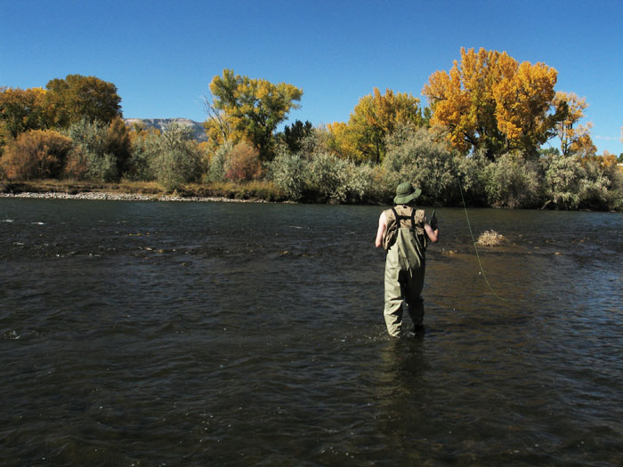 Mike fishing on the Colorado River, Rifle, CO