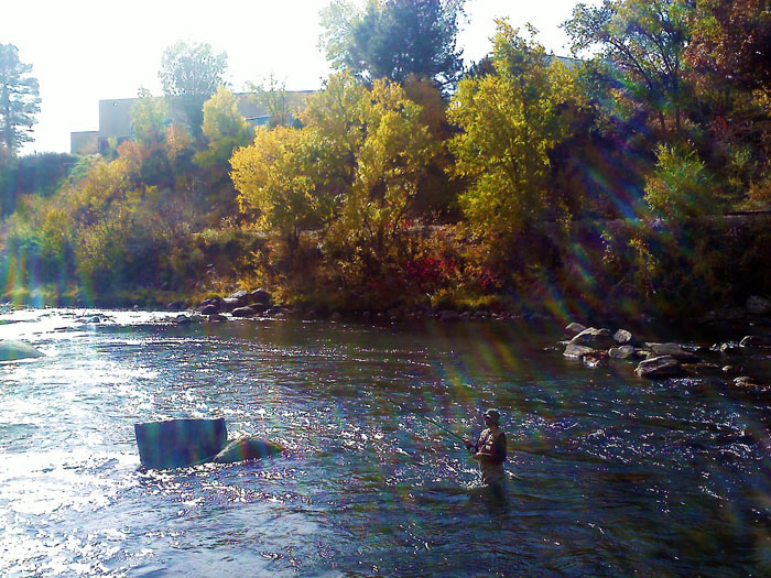 Fishing on the Animas River, Durango, CO