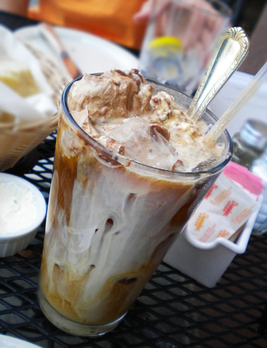 Iced coffee with chocolate from Crepes Francaise, Colorado Springs, CO