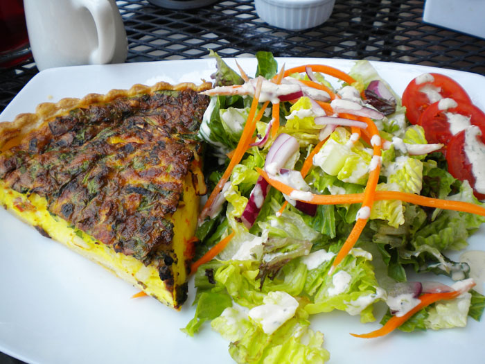 Quiche and salad, Crepes Francaise, Colorado Springs, CO