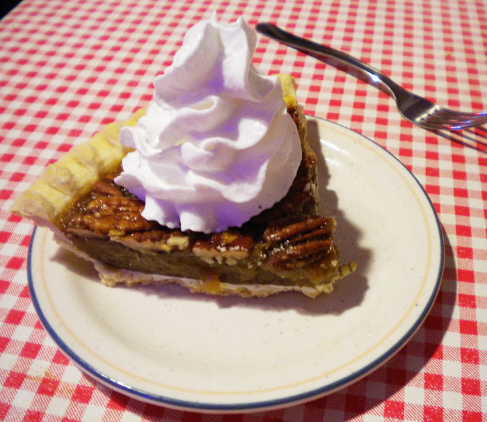 Pecan pie at Firehouse BBQ in Old Colorado City