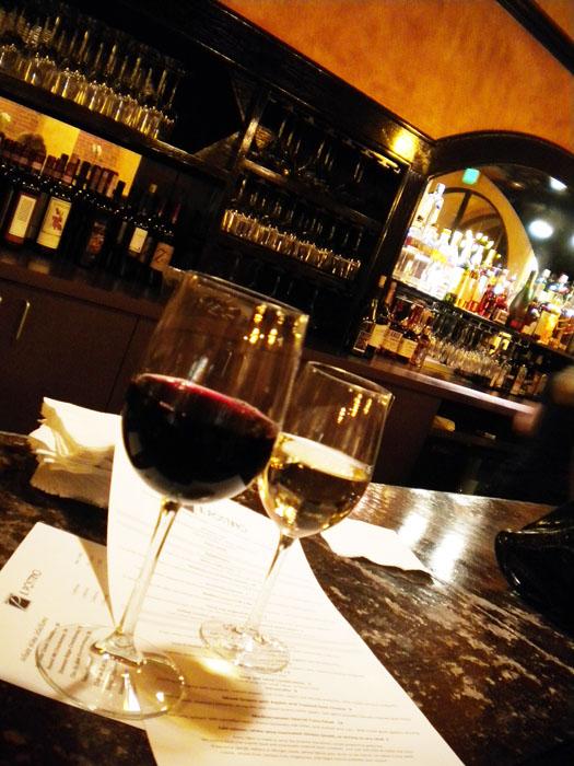 Wine at the bar, Il Postino, Colorado Springs, CO