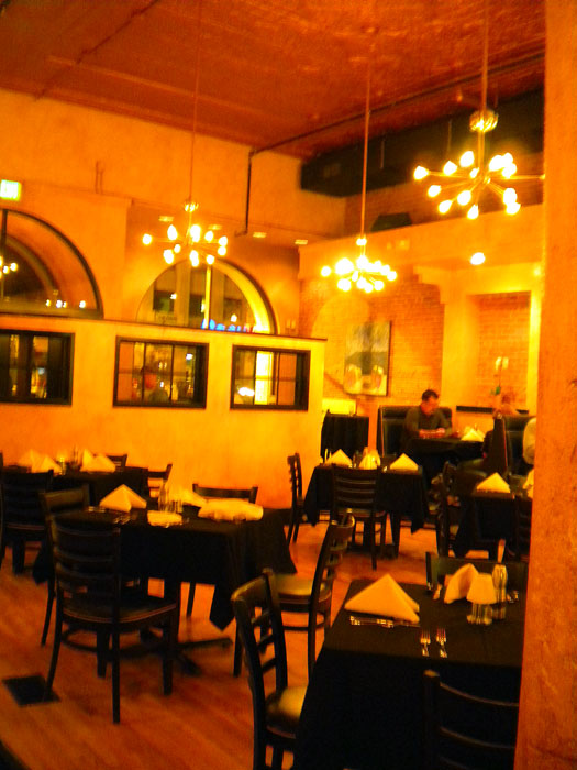 Pretty interior of Il Postino, Colorado Springs, CO