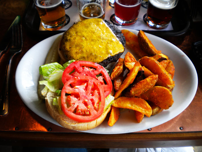 Buffalo burger from Carver Brewing Company, Durango, CO.