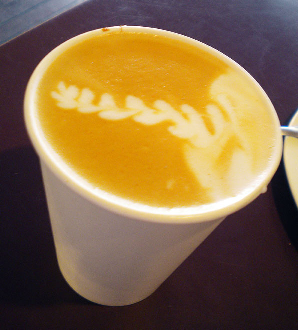 A delicious latte from The Steaming Bean, Durango, CO
