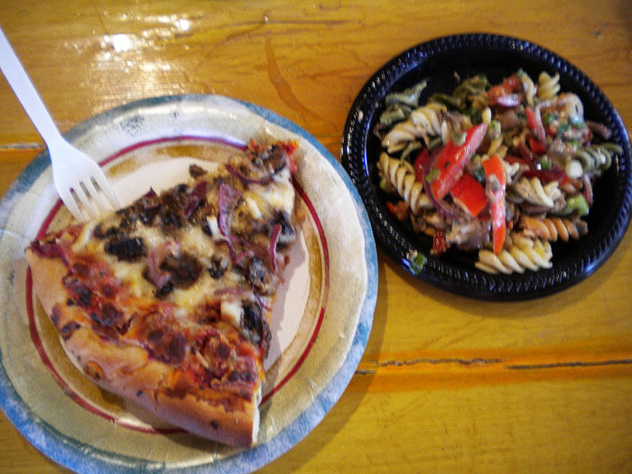 Mike had one of their signature pizzas and some pasta salad. Farrago Market Cafe, Pagosa Springs, CO