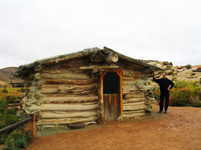 An old cabin built by someone who actually lived here in the 1800s, Arches National Park, Moab, Utah
