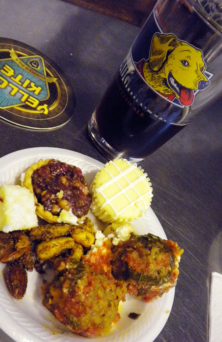 Christmas Ale launch party at Bristol Brewing Co., with catering by Blue Sage Creative Catering Solutions