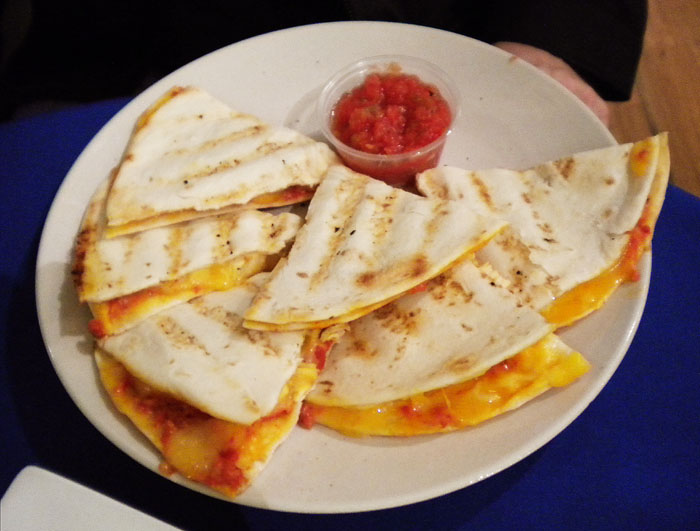 Chicken quesadilla at Cucuru, Old Colorado City, Colorado Springs