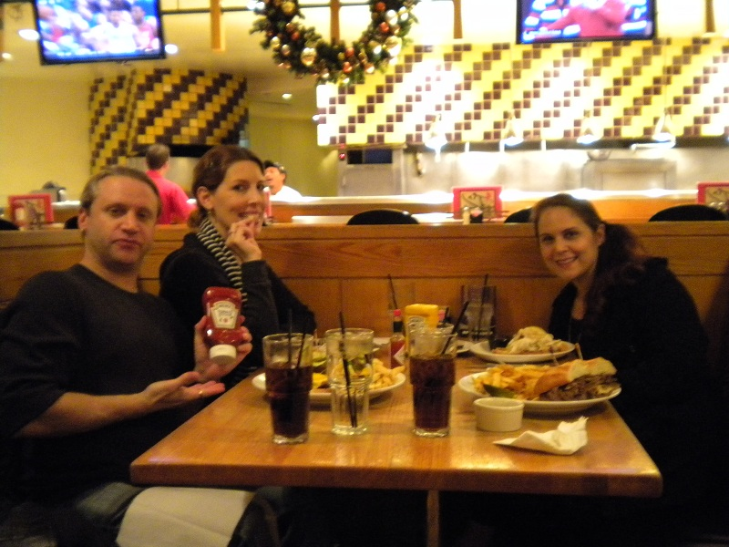 Dining at Hard Rock in Vegas, but talking about Capriotti's.
