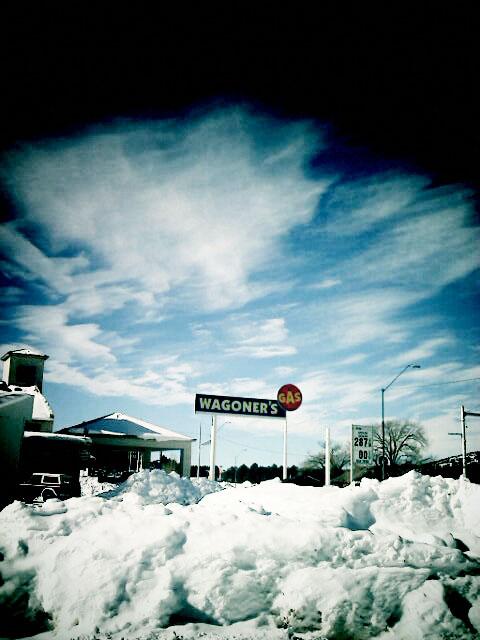 Snow drift in Williams Arizona
