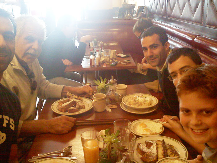 Everyone looks pretty happy so far at the Nickel Diner in Los Angeles