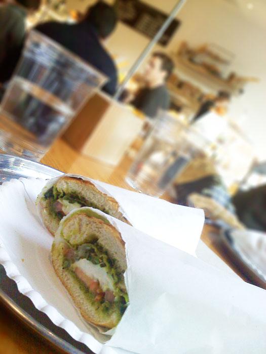 Caprese sandwich at Deluca's Deli, Glendale, CA